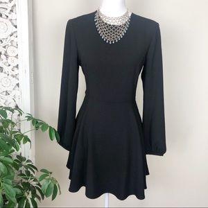 Zara 🍁Long Sleeve Black flowy Dress